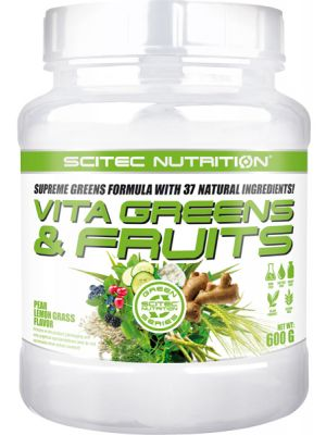 Scitec Nutrition Vita Greens & Fruits - Supreme Greens Formula With 37 Natural Ingredients!