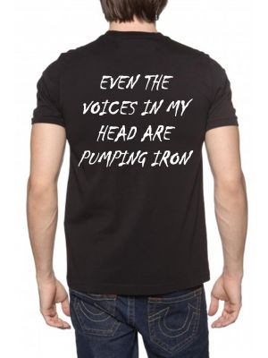 MJG Supplements Tee 'Even The Voices In My Head Are Pumping Iron'