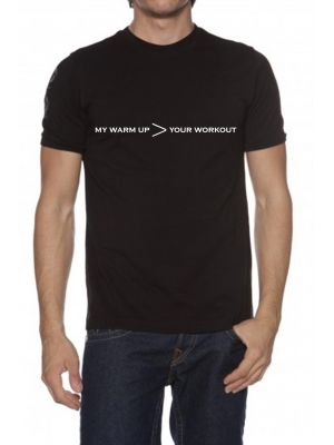 MJG Supplements Tee 'My Warm Up > Your Workout'